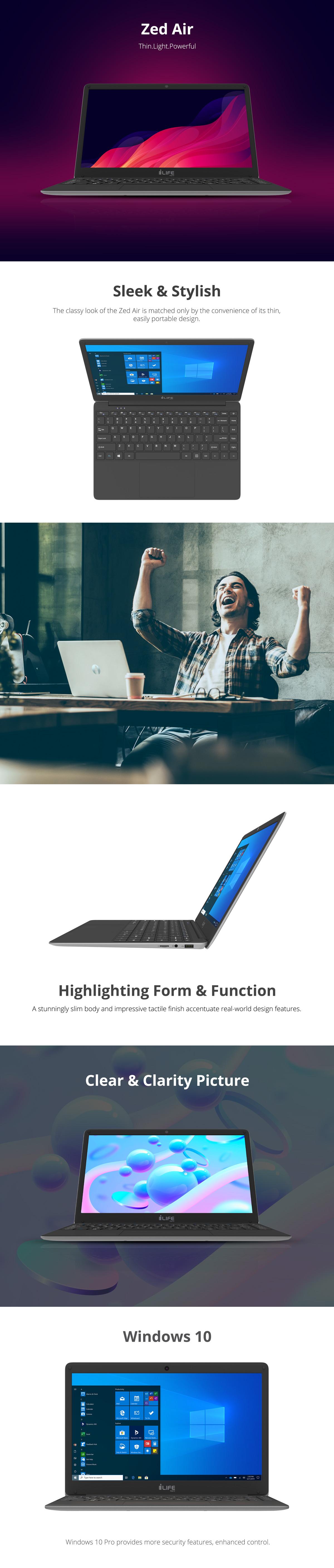 Zedair Slimmest Laptop In Its Category 14 Inch Notebook Ilife Digital